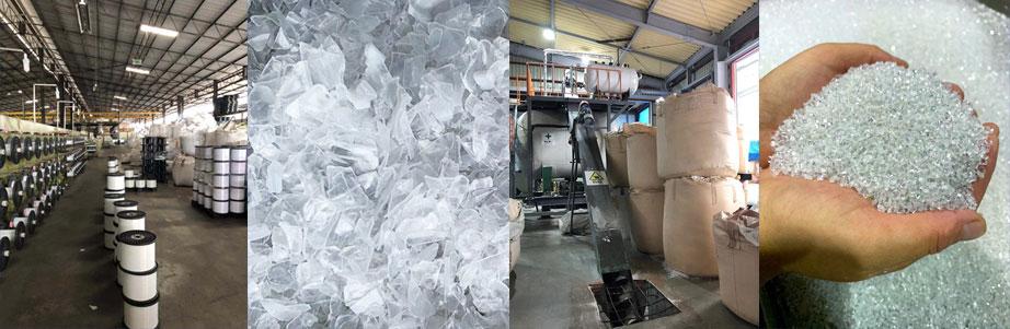 廃ペットボトルの資源循環リサイクルを担う再生プラスチック原料