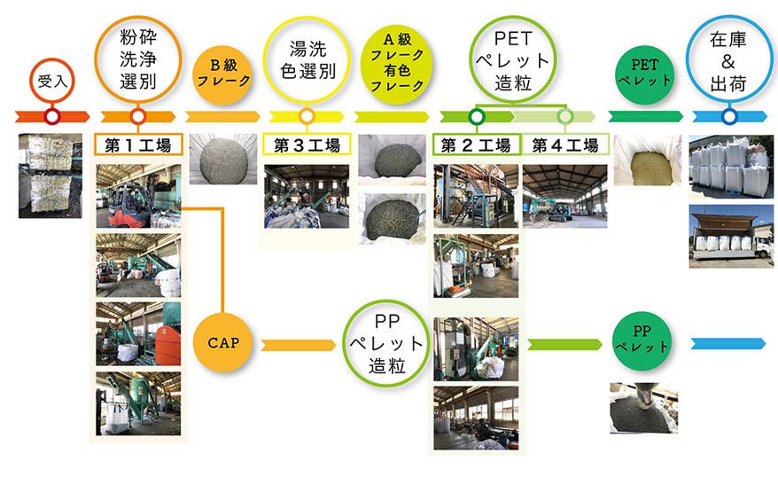 ペットボトルリサイクルプロセス